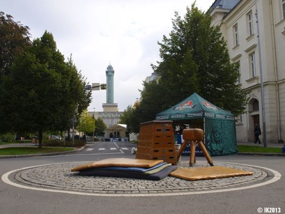Cvičení v centru Ostravy