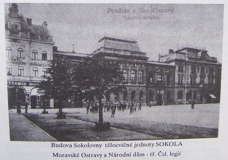 Stará sokolovna MO1 na ulici Čs. legií